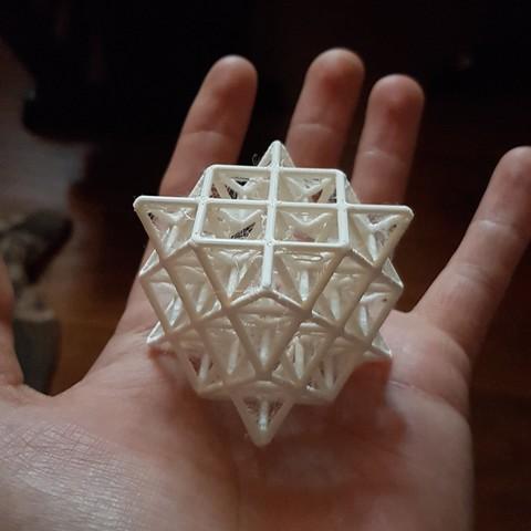 20170405_075811.jpg Download STL file 64 Tetrahedron Grid • 3D printing template, VertexMachine