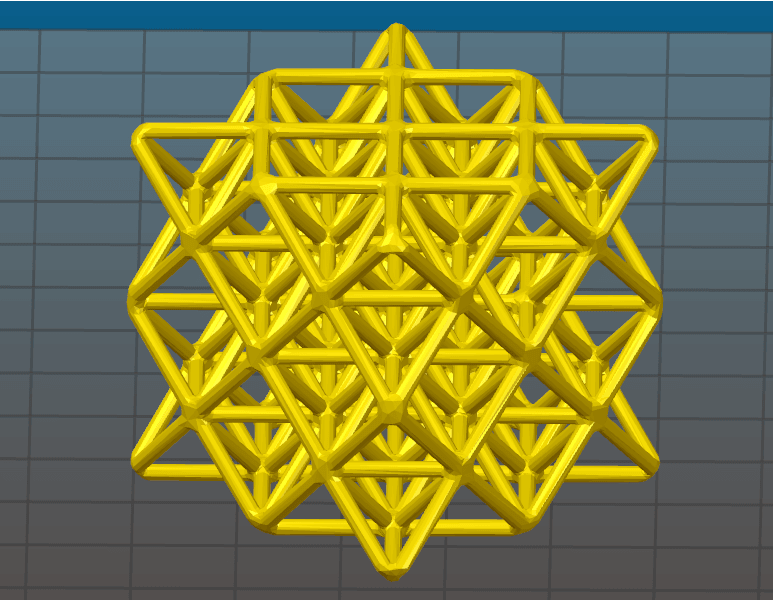 64 tetrahedron wireframe.png Download STL file 64 Tetrahedron Grid • 3D printing template, VertexMachine