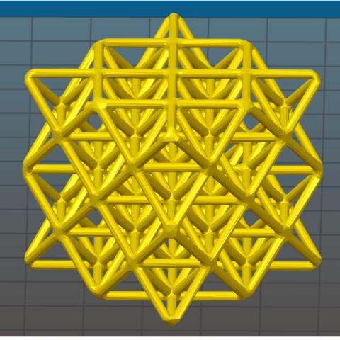 Télécharger fichier impression 3D 64 Grille de tétraèdre, VertexMachine