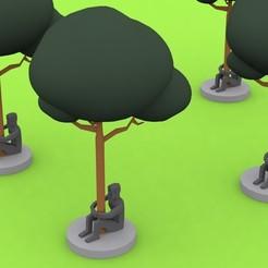 man guarding a tree 3D printer file, omerkamal
