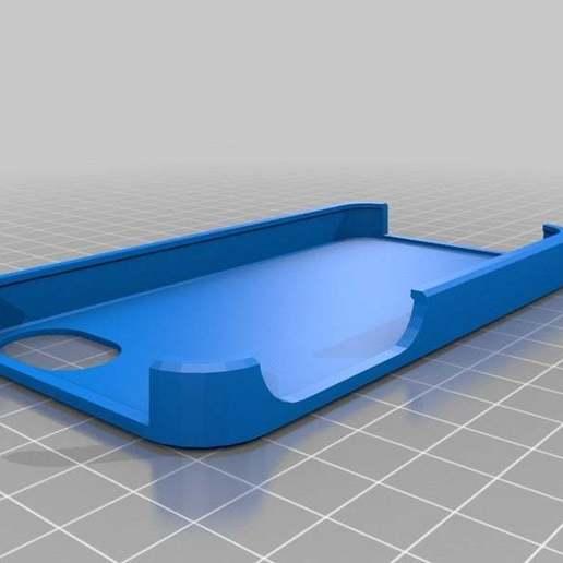 makerbot_customizable_iphone_case_v20_20140506-19367-1g3oj7v-0.jpg Télécharger fichier STL gratuit Mon étui de pochoir personnalisé pour iPhone • Plan pour impression 3D, usg03