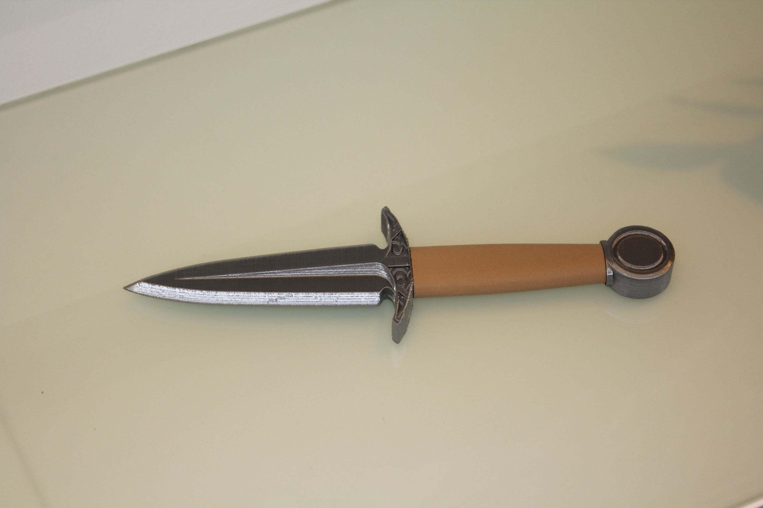dagger4.jpg Download free STL file Dagger - easy to print, no support • 3D printable model, plokr