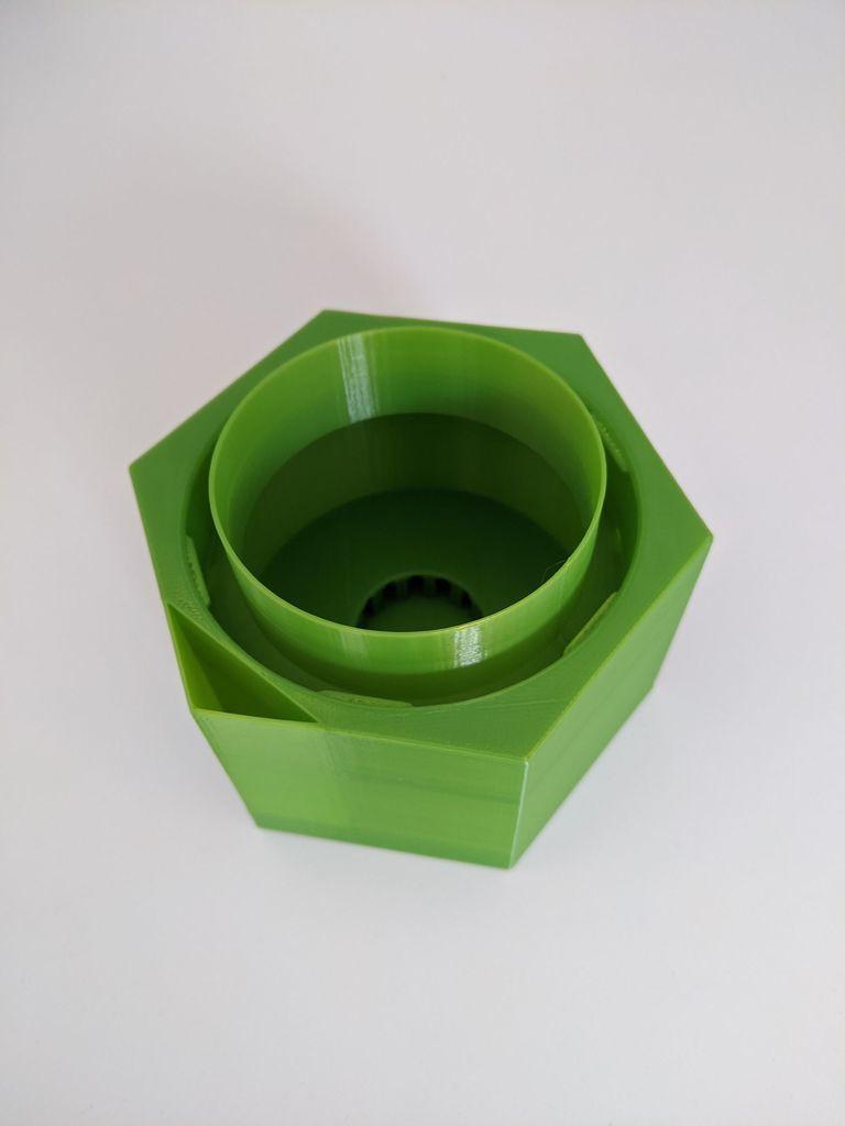pot.jpg Télécharger fichier STL gratuit Upcycle Jar Greenhouse - pour des impressions plus grandes sans support • Objet pour impression 3D, plokr
