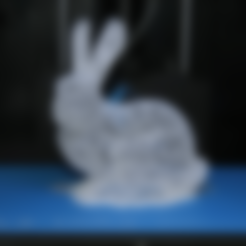 Bunny-grid.stl Download free STL file Grid-Bunny, stylish Easter decoration (no support) • 3D printing model, plokr