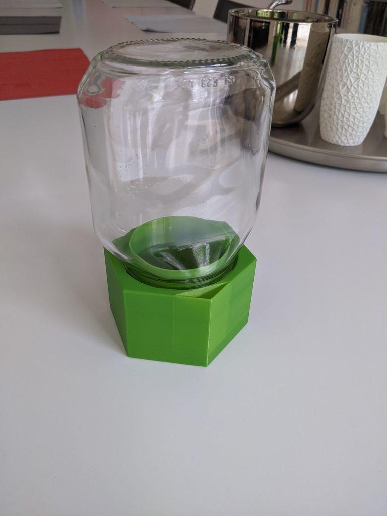 jar1.jpg Télécharger fichier STL gratuit Upcycle Jar Greenhouse - pour des impressions plus grandes sans support • Objet pour impression 3D, plokr