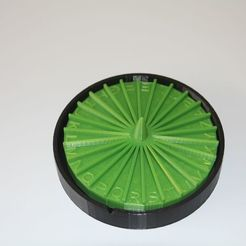 Descargar diseños 3D gratis Rueda de Cartas (Buchstaben-Rad für Stadt-Land-Fluss), plokr