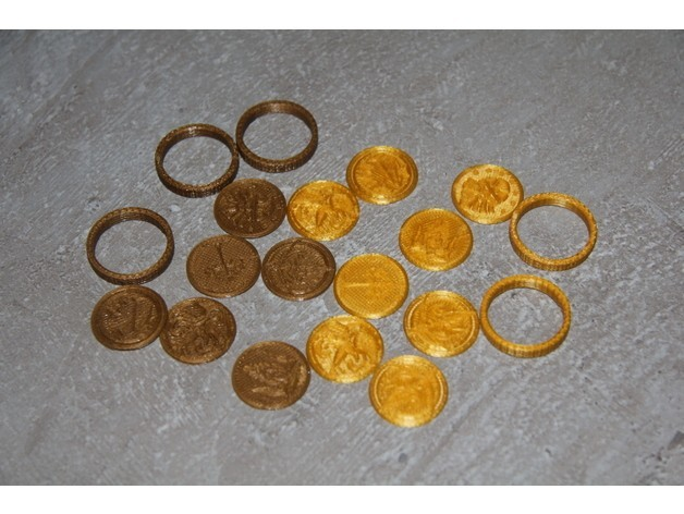 461a2d5a668b948dcad4417bddc6fa92_preview_featured.JPG Download free STL file Coins of Middle-Earth • 3D printer model, plokr