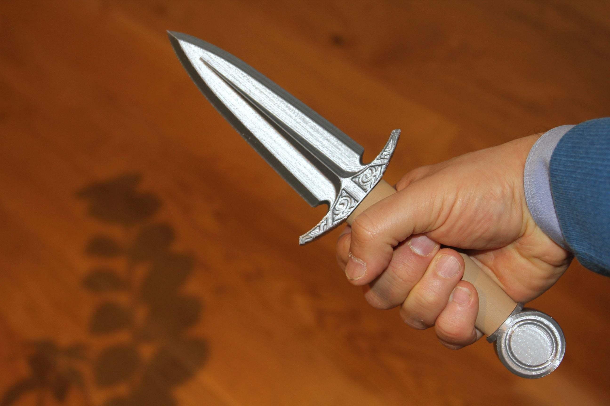 dagger6.jpg Download free STL file Dagger - easy to print, no support • 3D printable model, plokr