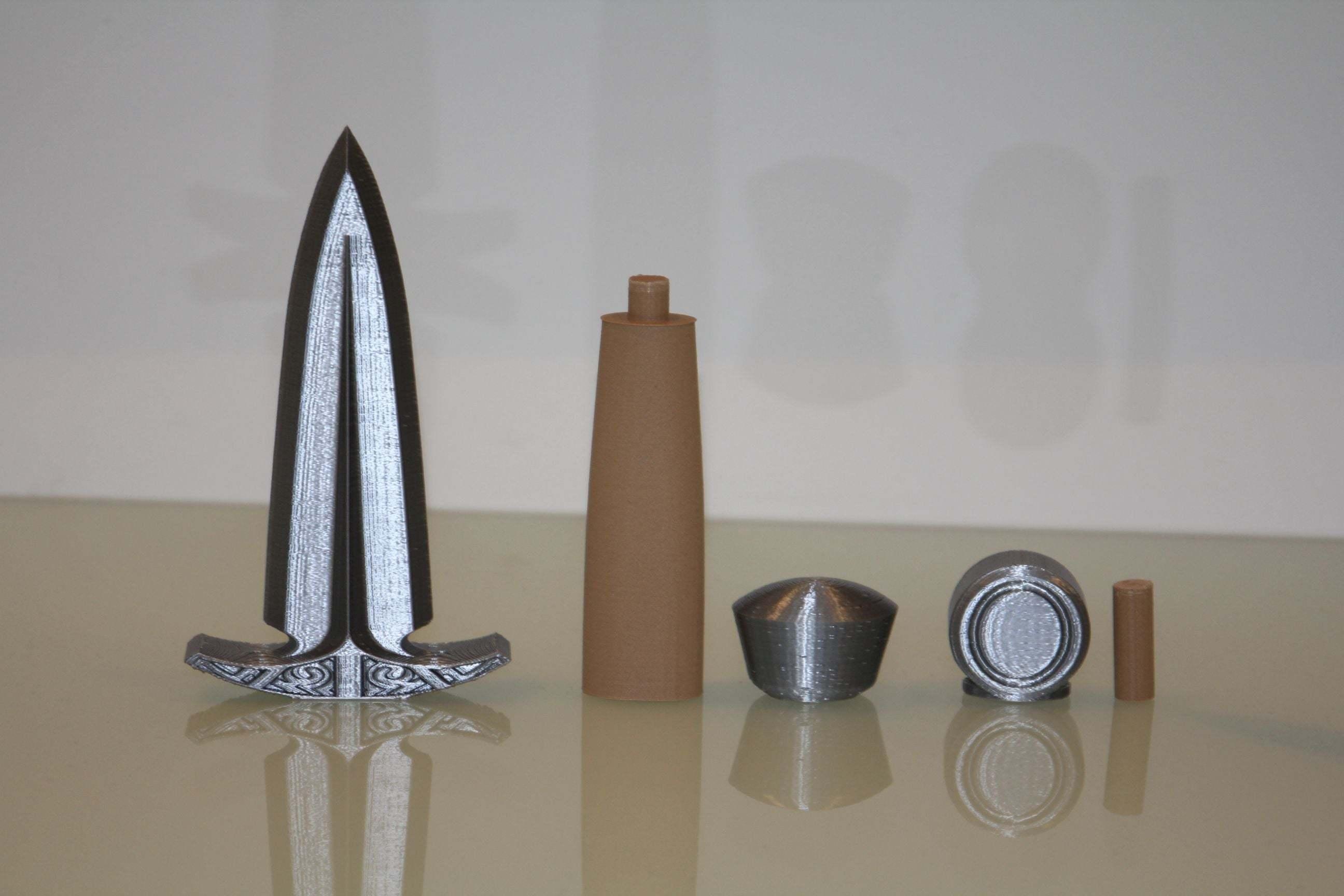 dagger3.jpg Download free STL file Dagger - easy to print, no support • 3D printable model, plokr