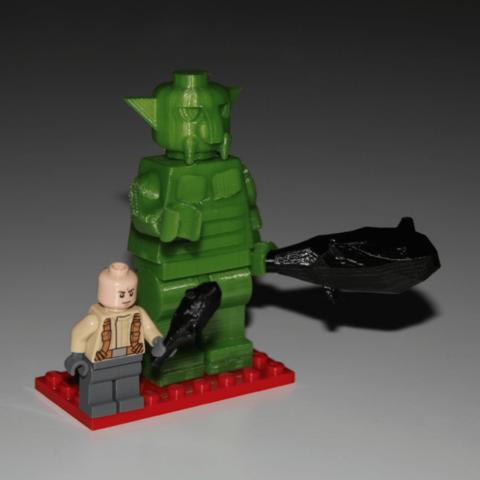 Plan 3d gratuit lego compatible giantic troll giantic - Modele lego gratuit ...