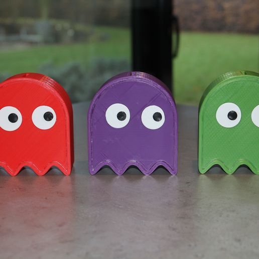 Download free STL file Pac Man Piggy Bank - greater gate / hole / opening • 3D print template, plokr