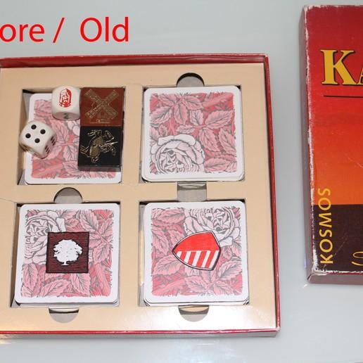 old-1.jpg Download free STL file Catan Card Game Inlay / Card Box • 3D printer design, plokr