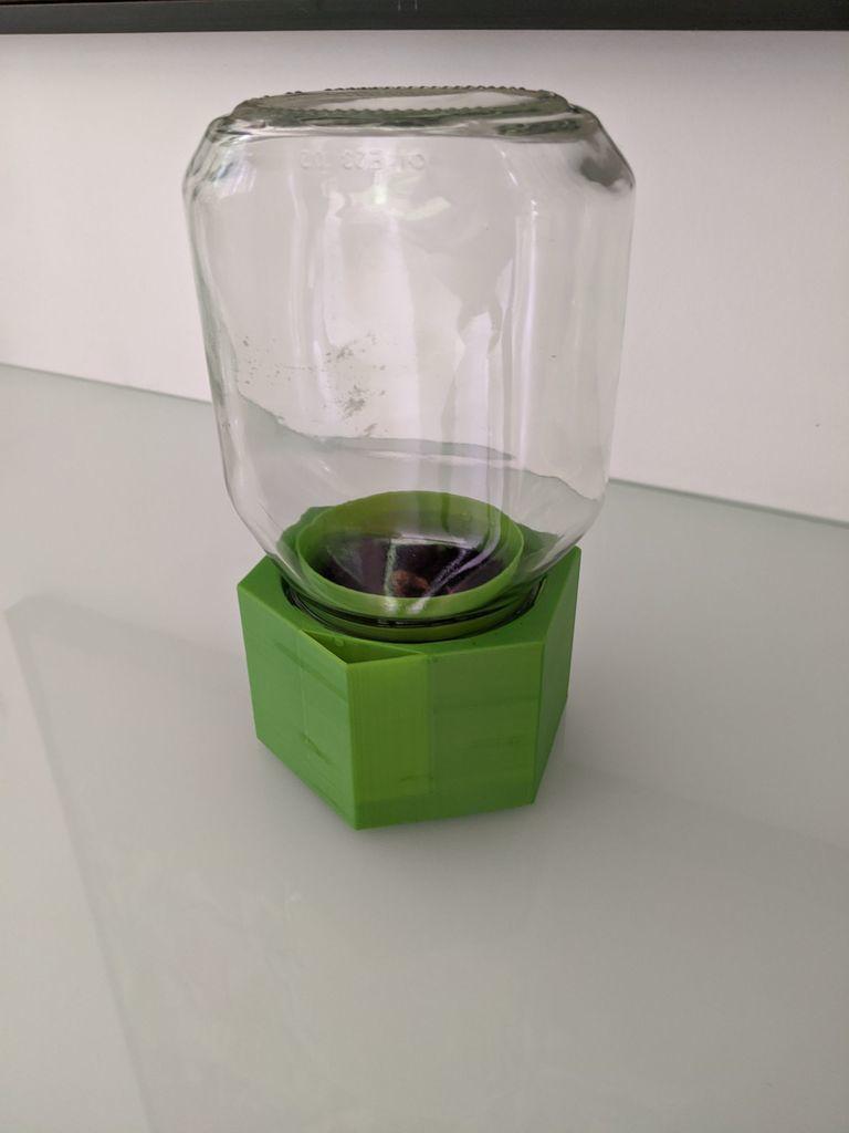 jar-planted.jpg Télécharger fichier STL gratuit Upcycle Jar Greenhouse - pour des impressions plus grandes sans support • Objet pour impression 3D, plokr