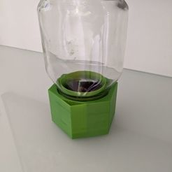 Download free 3D print files Upcycle Jar Greenhouse - for bigger prints without support, plokr