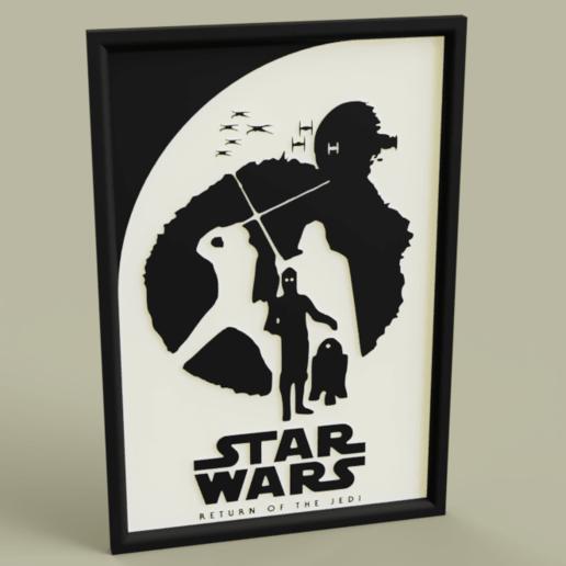 Télécharger STL gratuit StarWars Le retour du Jedi, yb__magiic
