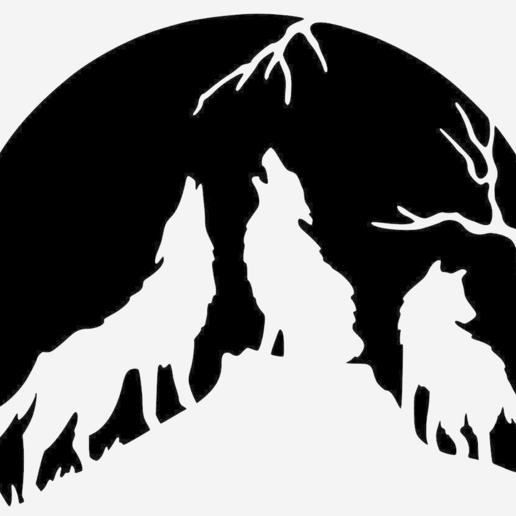 ae2f97718ebe1e9cdf73be8c48c4c0fd.png Télécharger fichier STL gratuit Loups hurlants - Loups hurlants • Design pour imprimante 3D, yb__magiic