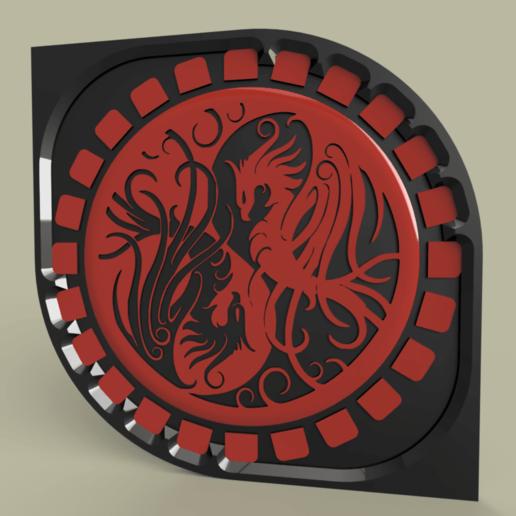 Download free 3D printer files phenix 2 - phoenix 2 ying yang, yb__magiic