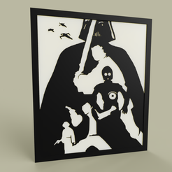 Download free 3D print files darth vader - luke - han solo - leia - c3po, yb__magiic