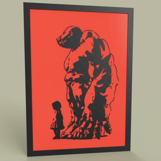 Download free 3D printer files Girl and Orc or daemon, yb__magiic