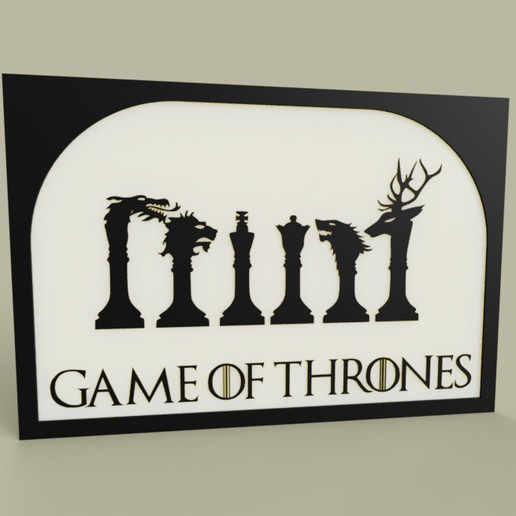 Download free STL file Game of Thrones - Heraldry • 3D print template, yb__magiic