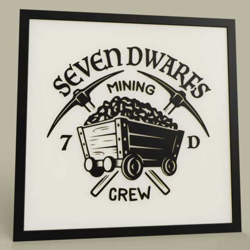 Download free 3D printing models Disney - Seven Dwarfs Mining - Snow White and the Seven  Dwarfs, yb__magiic