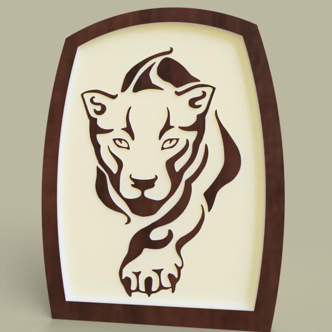 tigre_tableau.jpg Télécharger fichier STL gratuit tigre - tiger • Modèle à imprimer en 3D, yb__magiic
