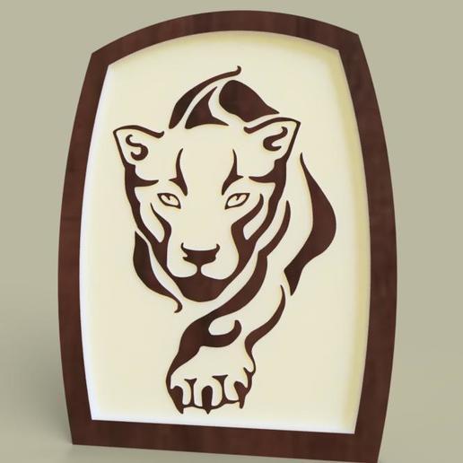 Download free 3D printer templates tigre - tiger, yb__magiic
