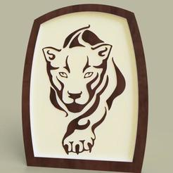 Download free 3D printer templates tigre - tiger, yb__magiic