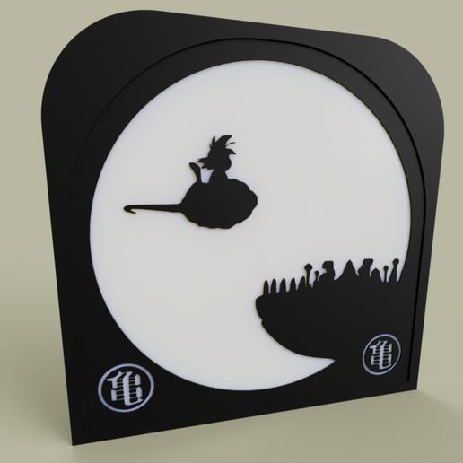 Télécharger fichier STL gratuit DragonBall - le jeune Goku et son nuage magique • Modèle à imprimer en 3D, yb__magiic