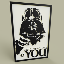 Download free 3D printing files StarWars - Darth Vader -Your Empire Needs YOU - old poster, yb__magiic