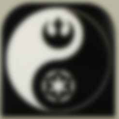 Download free 3D printing templates StarWars - Symbols - Ying Yang No1, yb__magiic