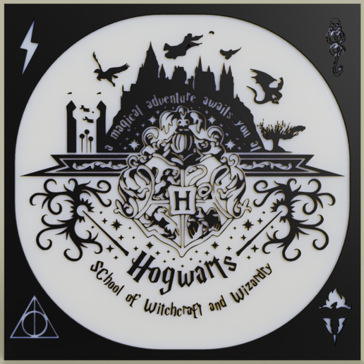 0a09b202-11ac-4b0c-a6fb-1432aad8c348.PNG Download free STL file Harry Potter - Hogward - Poudlard • Design to 3D print, yb__magiic