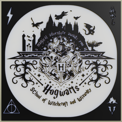 Download free 3D printer designs Harry Potter - Hogward - Poudlard, yb__magiic