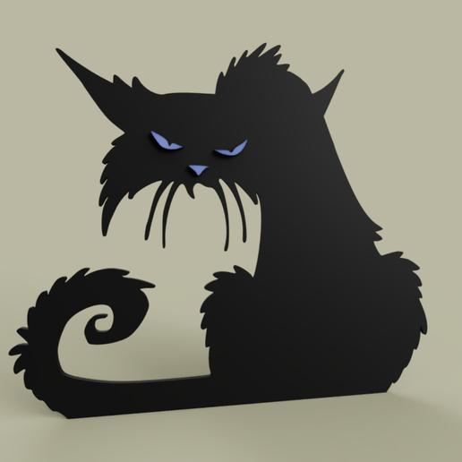 Grumpy_Cat_Alone.PNG Télécharger fichier STL gratuit Chat Grincheux seul • Design imprimable en 3D, yb__magiic