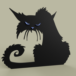 Grumpy_Cat_Alone.PNG Download free STL file Grumpy Cat alone • 3D print object, yb__magiic