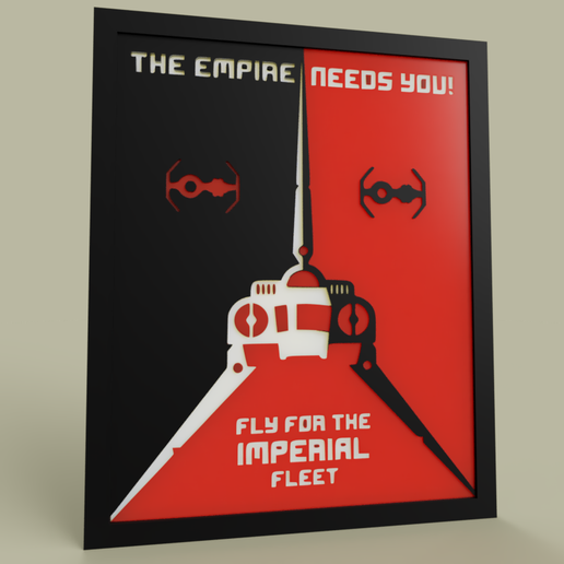Télécharger STL gratuit StarWars - Flotte Impériale - Nouvelle version, yb__magiic