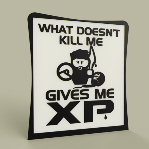 Download free STL file Game - What Doesn t kill me gives me XP • Template to 3D print, yb__magiic