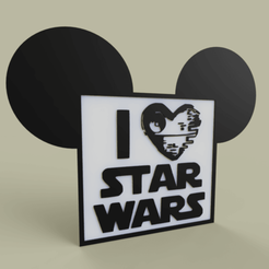 Download free STL i love starwars No2, yb__magiic