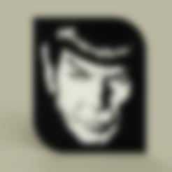 StarTrek_-_Spock_-_L._Nemoy_v1.stl Télécharger fichier STL gratuit StarTrek - Spock - L. Nemoy • Objet pour impression 3D, yb__magiic
