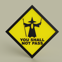 Télécharger STL gratuit Gandalf - Vous ne passerez pas le n°2, yb__magiic