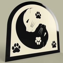 Download free 3D printer model Ying Yang Cat, yb__magiic