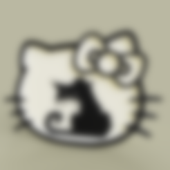 Download free 3D printer files hello kitty - grumpy cat, yb__magiic