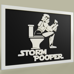 Download free 3D printer designs StarWars Storm Pooper - StormTrooper Toilet, yb__magiic