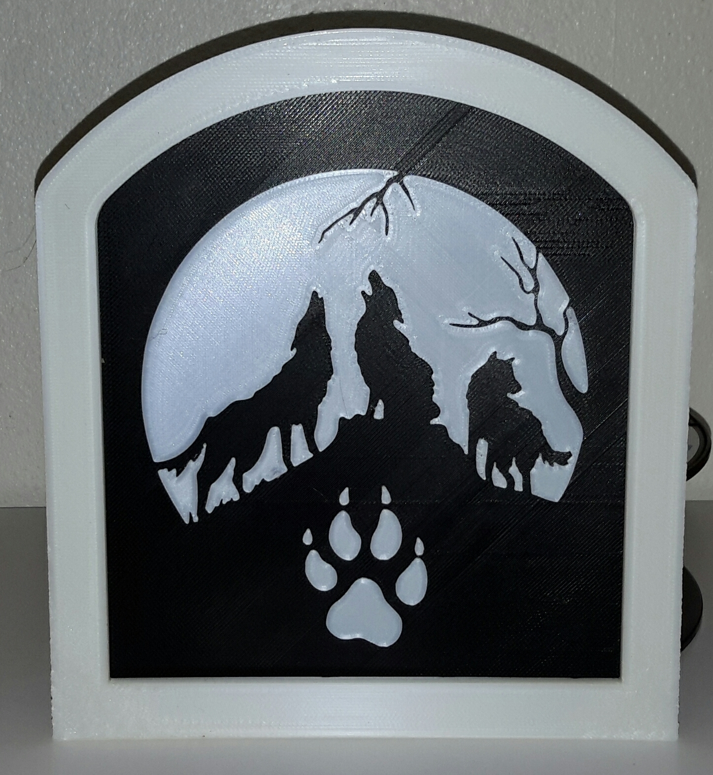 Studio_20190315_132006.jpg Télécharger fichier STL gratuit Loups hurlants - Loups hurlants • Design pour imprimante 3D, yb__magiic