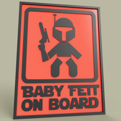 Download free 3D printer files StarWars Baby Fett On Board Boba Fett, yb__magiic
