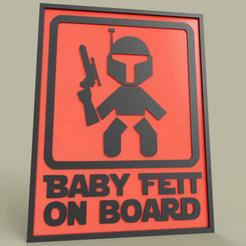 Télécharger fichier STL gratuit StarWars Baby Fett à bord de Boba Fett • Modèle imprimable en 3D, yb__magiic
