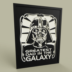 Download free 3D printer templates StarWars - Darth Vader greatest dad in the galaxy, yb__magiic