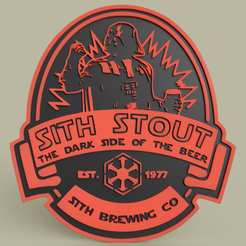 Download free STL file StarWars - Sith Stout - Darth Vader • 3D printable template, yb__magiic