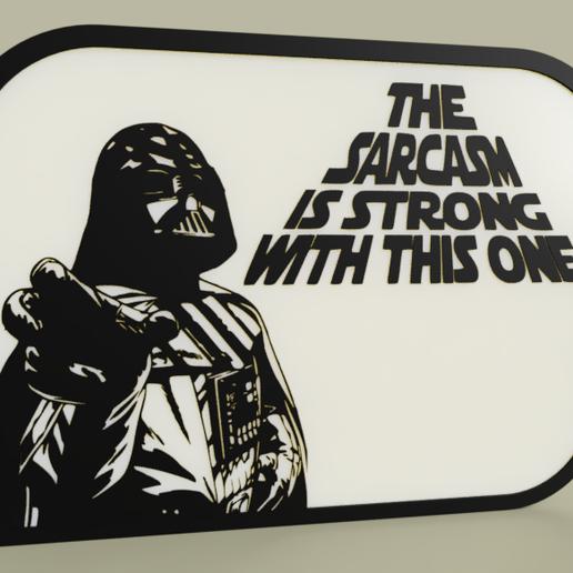 Télécharger fichier impression 3D gratuit StarWars - Darth Vader - Le sarcasme est fort avec celui-ci, yb__magiic