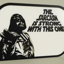 Download free STL file StarWars - Darth Vader - The sarcasm is strong with this one • 3D printing template, yb__magiic